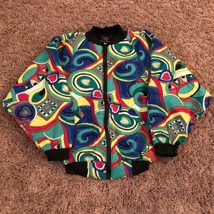 🔥Vintage 80s Abstract Bomber Jacket 🔥